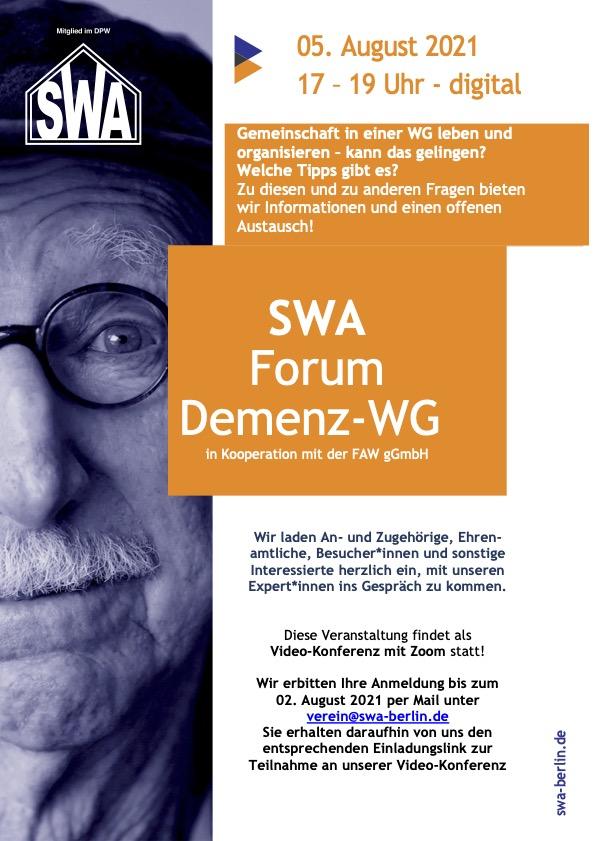 Plaket für die Einladung zum SWA Demenz Forum